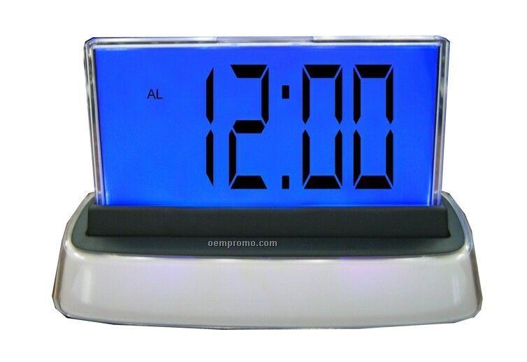 Light Up Multi Function Lcd Clock