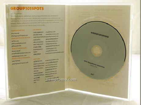 DVD Replication Retail In Clear Slim Amaray Case 2 Panel 4/1 Insert (DVD 5)