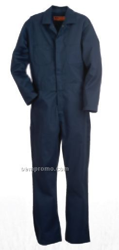 "Navy Cotton Standard Unlined Coverall (R) 32"" Inseam (36""-62"" Chest)"