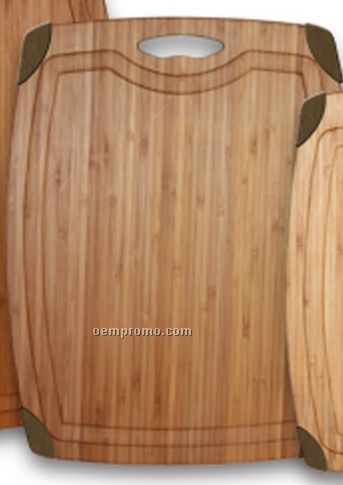 "18"" Durathin Bamboo Cutting Board With Silicone Feet"