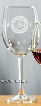 19 Oz. Selection All-purpose Wine Glass (Set Of 2 - Deep Etch)