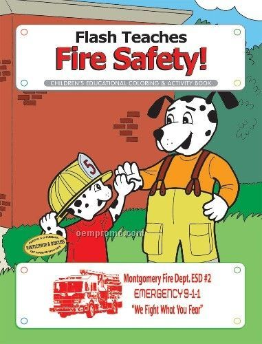 Action Pack Coloring Book W/ Crayons & Sleeve - Flash Teaches Fire Safety