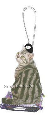 American Shorthair Cat Zipper Pull