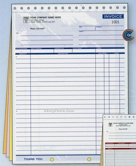 Classic Collection Large Invoice (4 Part)