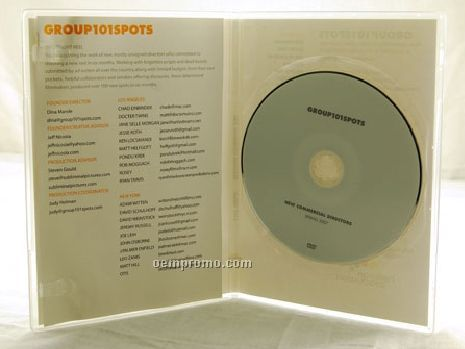 DVD Replication Retail In Clear Slim Amaray Case 2 Panel 4/4 Insert (DVD 5)