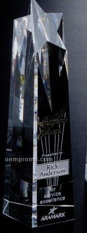 "Star Gallery Crystal Polaris Star Tower Award (10"")"