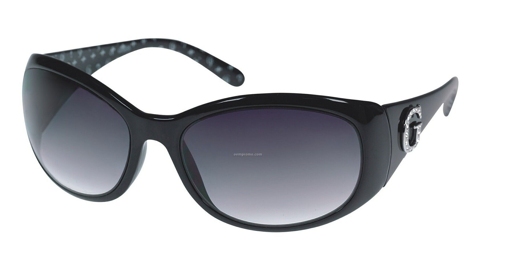 c51b2979dd193 Black Guess Gabrielle Patterned Ladies Sunglasses W  Silver Accent ...