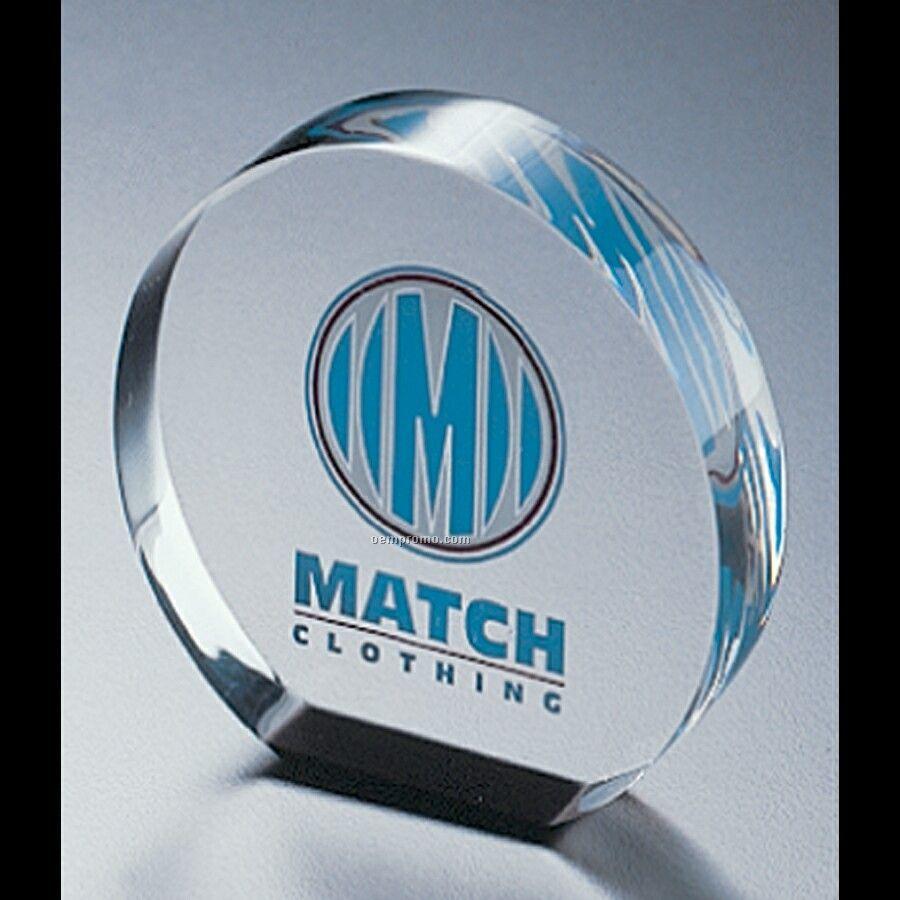 """Lucite Round Award (3"""" Diameter)"""