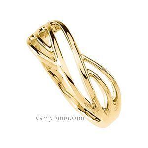 14ky 8mm Ladies' Metal Fashion Ring