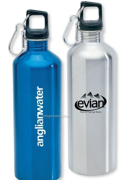 25 Oz. Stainless Steel Bottle W/ Carabiner Lid