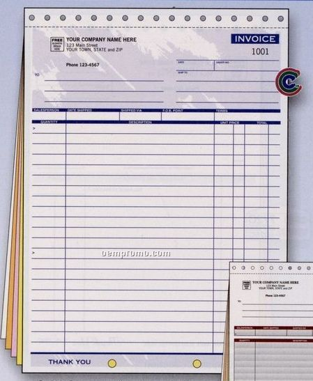 Color Collection Large Invoice (3 Part)