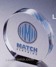 Lucite Round Award (3 1/2