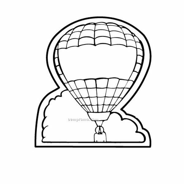 "Stock Shape Air Balloon Recycled Magnet (2 1/16""X2 1/2"")"