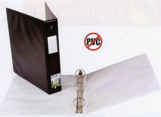"White 5/8"" Ring Binder With Spine Pocket & Label"