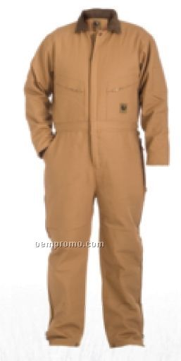 Brown & Black Duck Deluxe Insulated Coverall / Quilt Lined - (S-4xl)