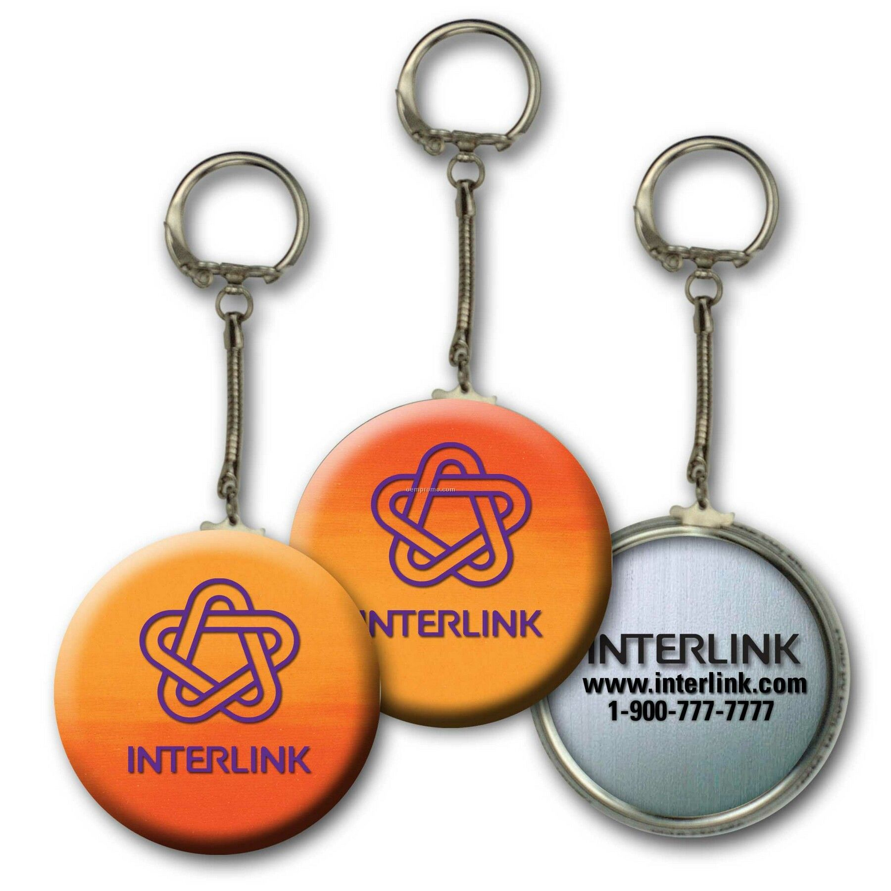 Metallic Key Chain W/3d Lenticular Changing Colors Effects (Custom)