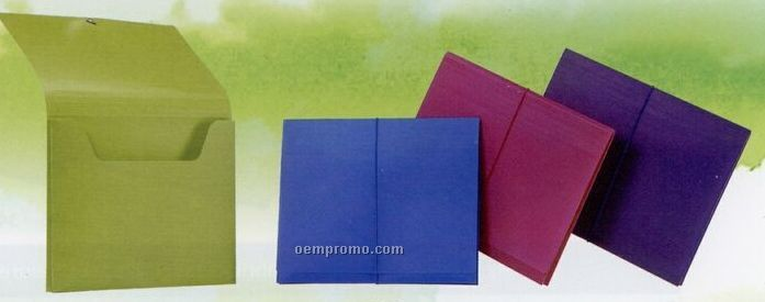 """Neon Purple Letter Size Pocket File With 1"""" Expansion"""