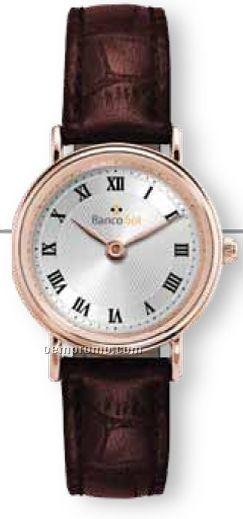 Ladies' Classic Watch W/ Rose Gold Finish (Roman Numerals)