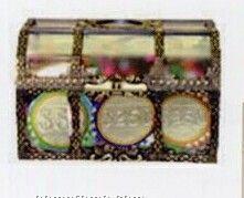30 Piece Belgian Chocolate Custom Casino Chips With Treasure Chest Box