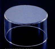 Acrylic Cylinder Riser W/ Round Beveled Mirror Top (2.5