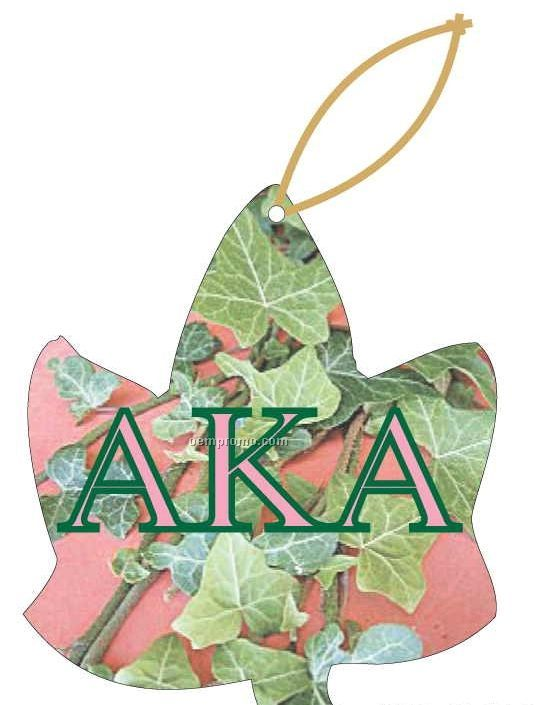 Alpha Kappa Alpha Sorority Ivy Ornament W/ Mirror Back (10 Square Inch)