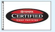 Standard Single Face Dealer Logo Spacewalker Flag (Toyota Certified)