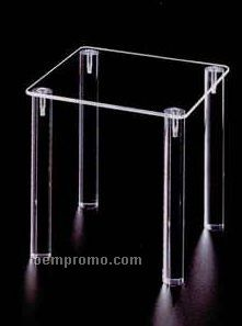 "Acrylic Take Down Countertop Table Riser Display - Square (12""X12""X8"")"