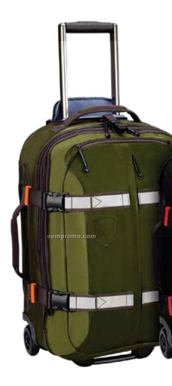"""Black Ch-97 Collection 22"""" Expandable Wheeled U.s. Carry-on Suitcase"""