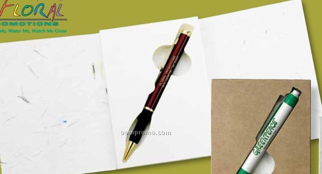Floral Seed Paper Gift Card W/Enviro Pen