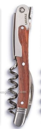 Laquiole Stainless Steel Corkscrew With Rosewood Handle