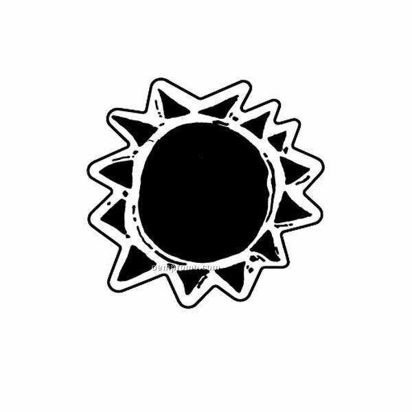 Stock Shape Sun Recycled Magnet