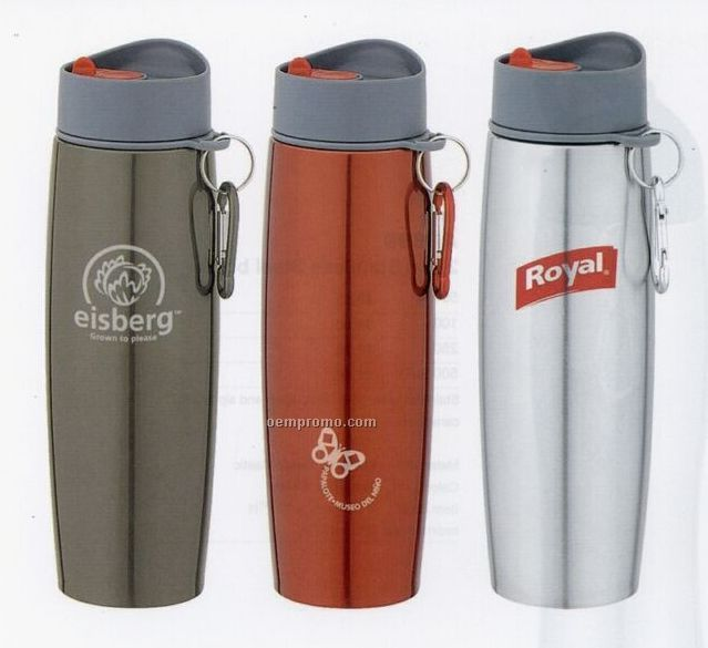 17 Oz. Stainless Steel Thermos With Carabiner