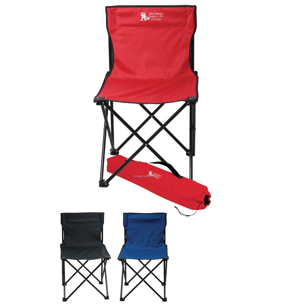 Folding Chair W/ Carrying Bag (Blank)