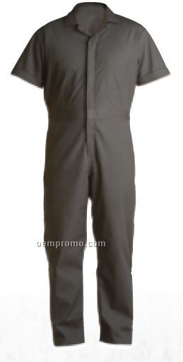 Poplin Short Sleeve Coverall (Tall) (M-4x)