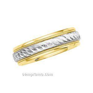 14ktt 6mm Men's Comfort Fit Wedding Band Ring (Size 11)