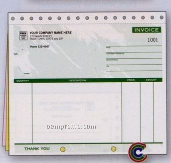 Color Collection Invoice Without Lines (3 Part)
