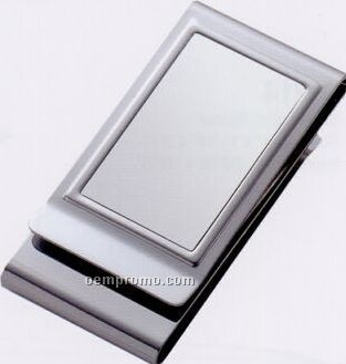 Metal Chrome Plated 2-sided Money Clip
