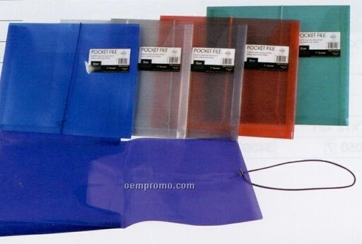 "Translucent Purple Pocket File With 1"" Expansion"