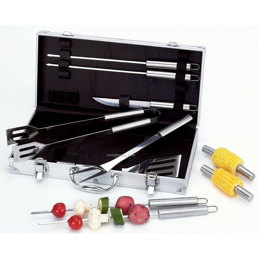 Chefmaster 13-piece Barbecue Set In Case (Standard Service)
