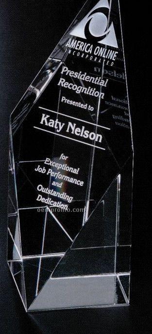"Pristine Gallery Crystal Diamond Spire Award (8"")"