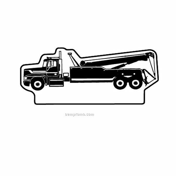 Stock Shape Tow Truck Recycled Magnet
