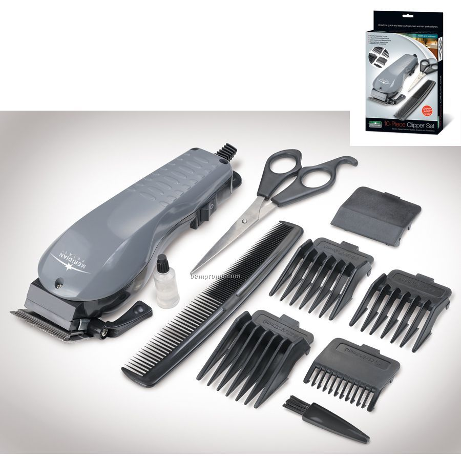 10 Piece Electric Clipper Set
