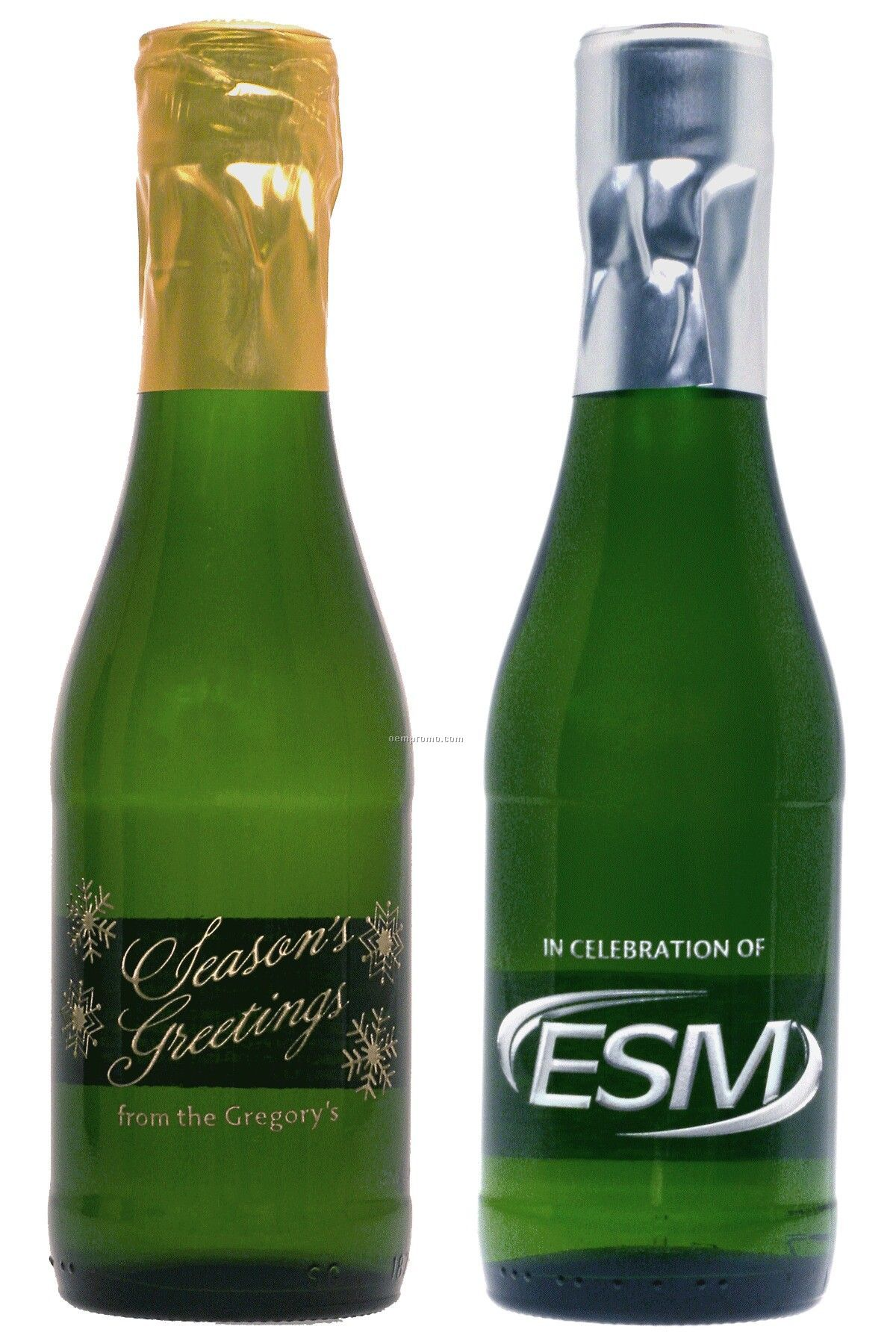 187ml Split California Champagne (Sparkling Wine) Etched With 1 Color Fill