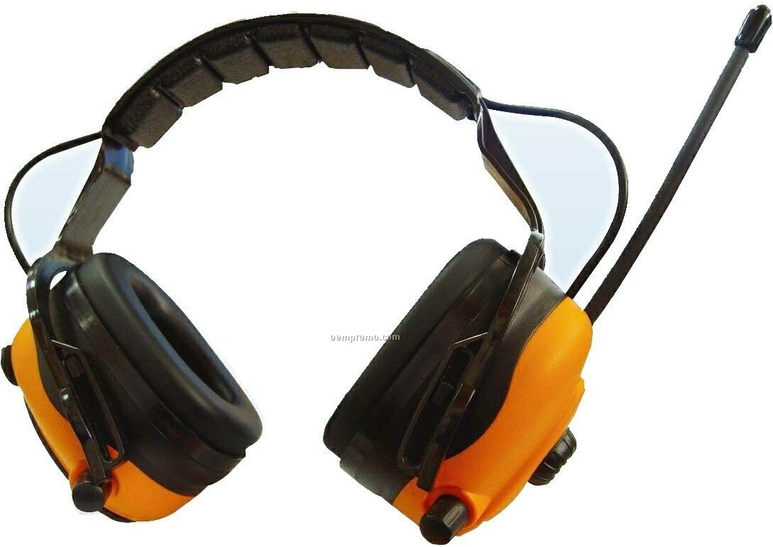 Electronic Earmuffs With FM Radio And Input Jack