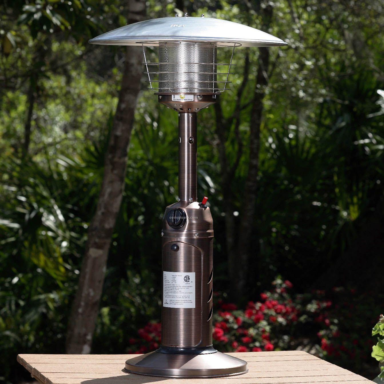 Fire Sense Copper Table Top Patio Heater