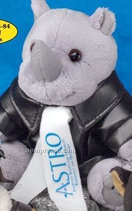 Gb Brite Plush Beanie Stuffed Gray Rhino