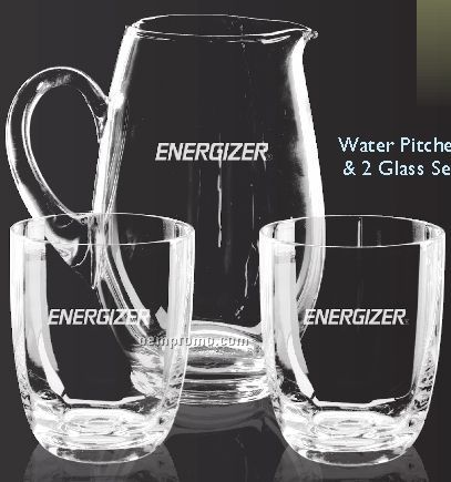 Water Pitcher And Glass Set