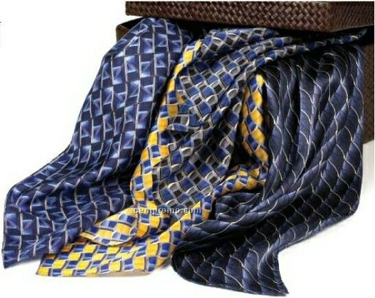 """Wolfmark Career Collection Silk Scarf - Lasalle Gold (21""""X21"""")"""