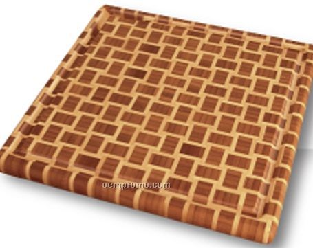 Geo Square Cutting Board With Groove