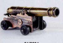 Military Bronze Metal Pencil Sharpener - Brass & Bronze Naval Cannon